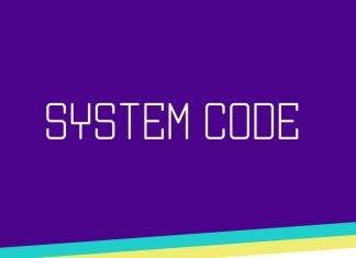 System Code font