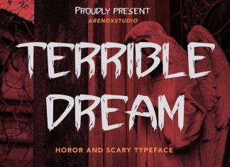 Terrible Dream - Horror And Scary Typeface