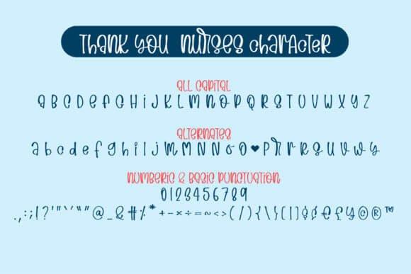 Thank You Nurses Font