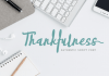 Thankfulness Font