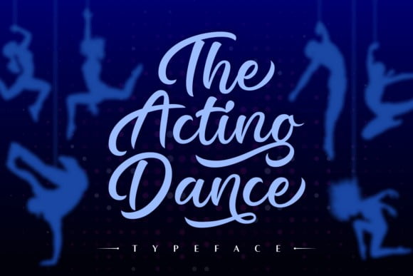 The Acting Dance Font