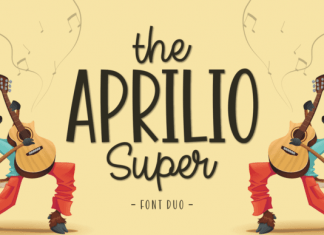 The Aprilio Super Duo Font