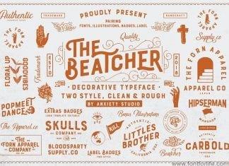 The Beatcher Typeface Font