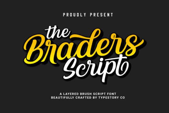 The Braders Script Font