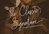 The Classic Signature Font