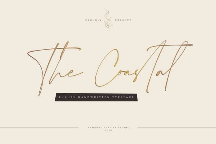 The Coastal - Luxury Handwritten Script Font