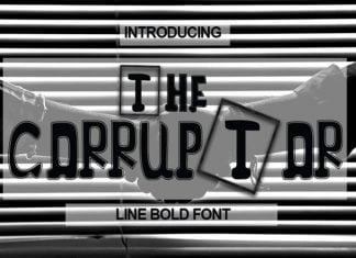 The Corruptor Font