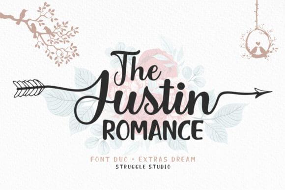 The Justin Romance Font