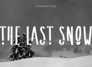 The Last Snow Font