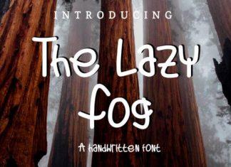 The Lazy Fog Font