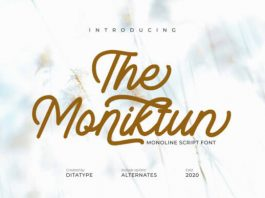The Moniktun Font