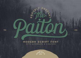 The Paiton Modern Script Font