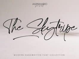 The Skytripe Font