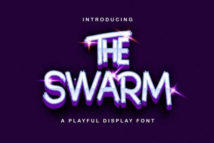 The Swarm - Playful Display Font