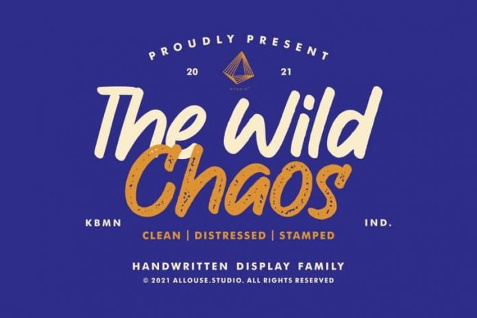 The Wild Chaos - Handwritten Display Font Family