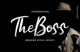 The boss Modern New Script