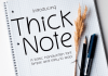 Thick Note Font
