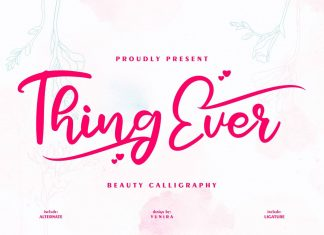 Thing ever Beauty Calligraphy