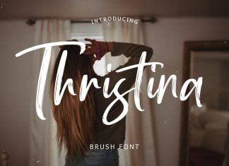 Thristina Brush Font
