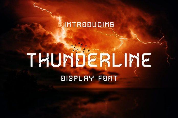 Thunderline Display Font