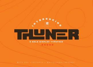 Thuner - Stunning Display Font