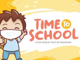 Time To School Font