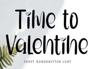 Time to Valentine Font