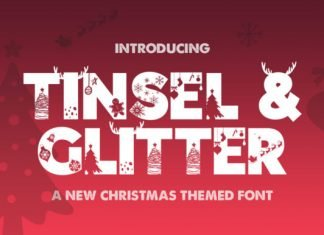 Tinsel & Glitter Font