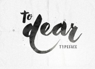 To Dear Typeface Font