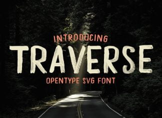 Traverse - Opentype Hand Painted SVG Font
