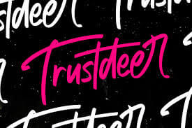 Trustdeer Handbrush Font