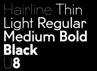 U8 typeface Font