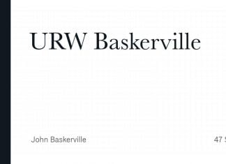 URW Baskeville Font