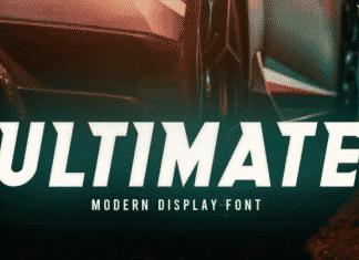 Ultimate - Modern Tech Sci-Fi Typeface Font