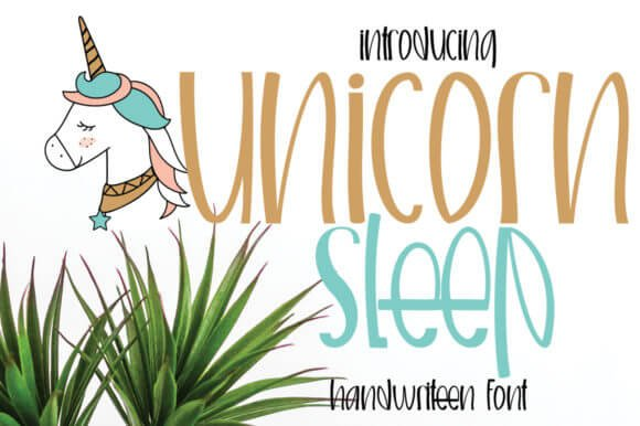Unicorn Sleep Font