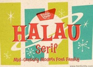 VVDS Halau Serif Font