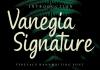 Vanegia Signature Font
