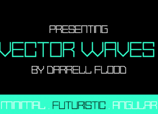 Vector Waves Font