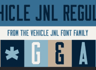 Vehicle JNL Font