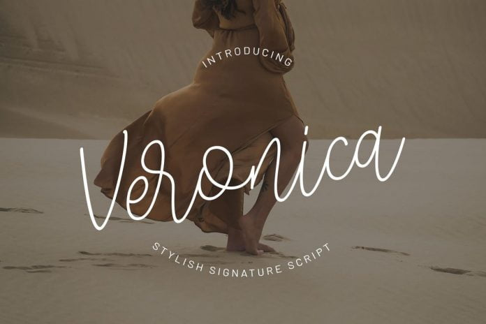 Veronica - Signature Script Font