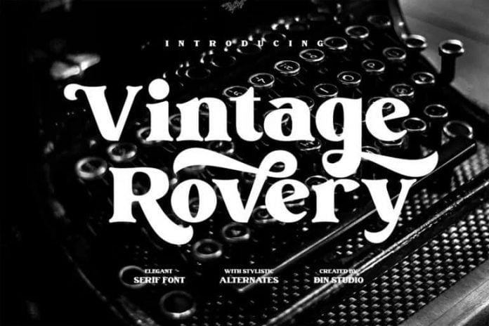 Vintage Rovery Font