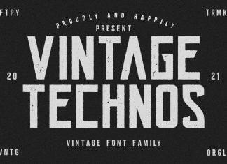 Vintage Technos Font
