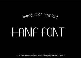 Hanif Font