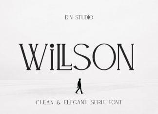 WILLSON - Clean Serif Font