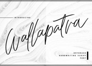 Wallapatra Drybrush Handwriting Script Font
