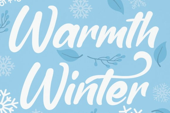 Warmth Winter Font