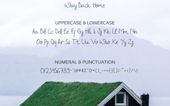 Way Back Home Font