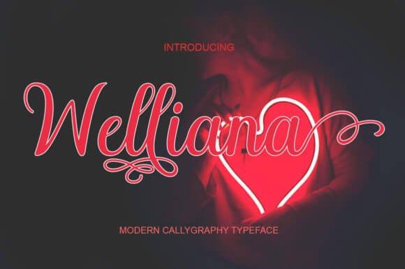 Welliana Font