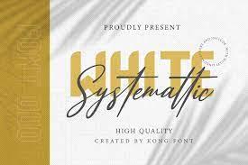 White Systemattic Font Duo