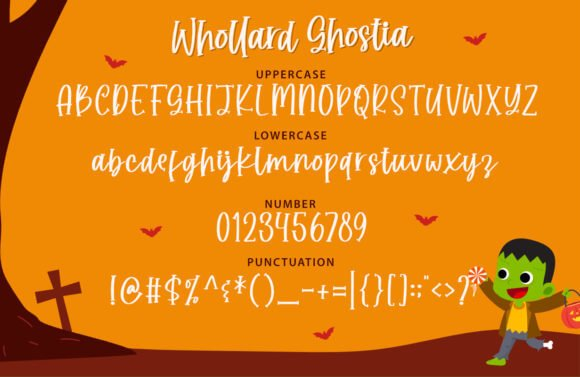 Whollard Ghostia Font